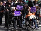 Los discapacitados encabezaron la marcha
