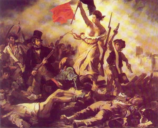 La Libertad guiando al pueblo - Eugène Delacroix, 1830