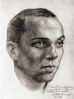 Miguel Hernandez. Dibujo de Antonio Buero Vallejo