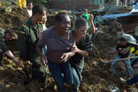 Tragedia por el invierno en Bello, Antioquia. Foto EFE