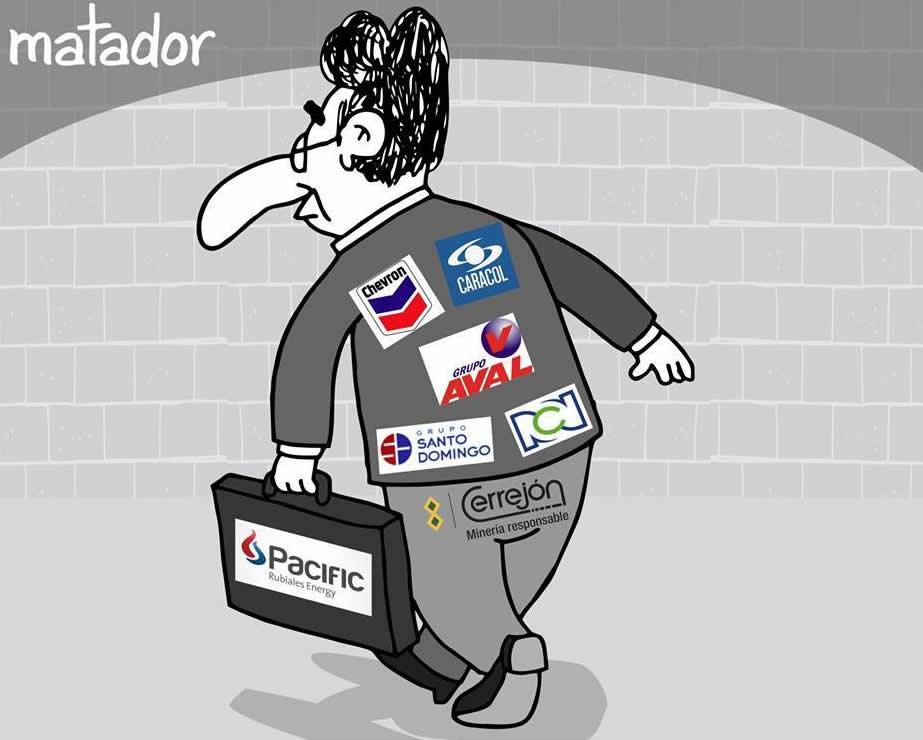 Fiscal de marca mayor. Caricatura de Matador en El Tiempo