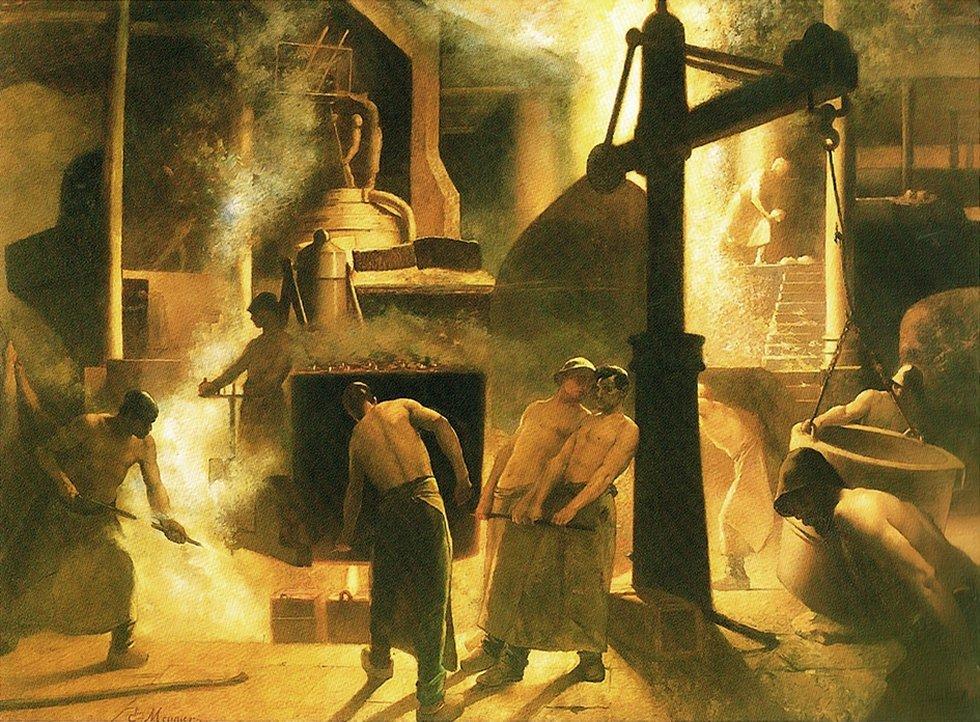 El arte socialista mostró la clase obrera construyendo la nueva sociedad