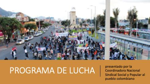 Programa de lucha del Encuentro Nacional Virtual de la Coordinadora Nacional Sindical, Social y Popular